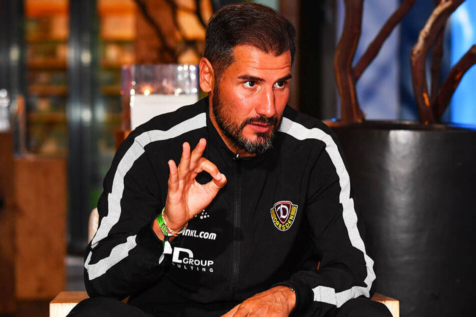 Vorzüglich, 1A! Dynamo-Trainer Cristian Fiel war mit allem rund herum zufrieden.
