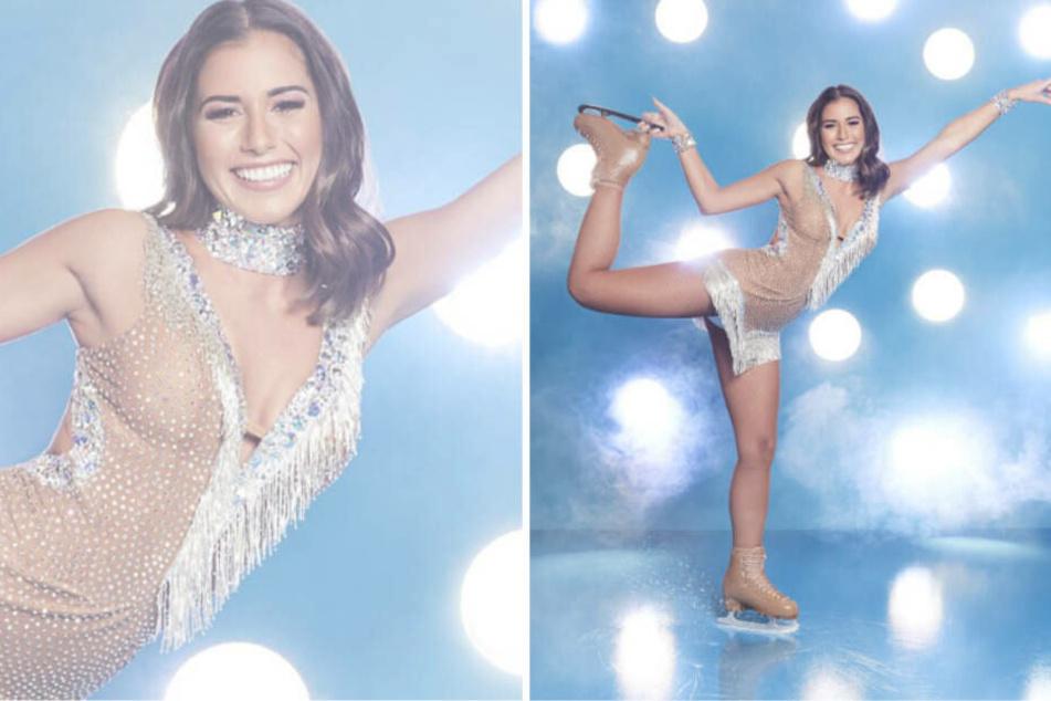 """Sarah Lombardi freut sich darauf, endlich wieder für """"Dancing on Ice"""" auf dem Eis zu stehen."""