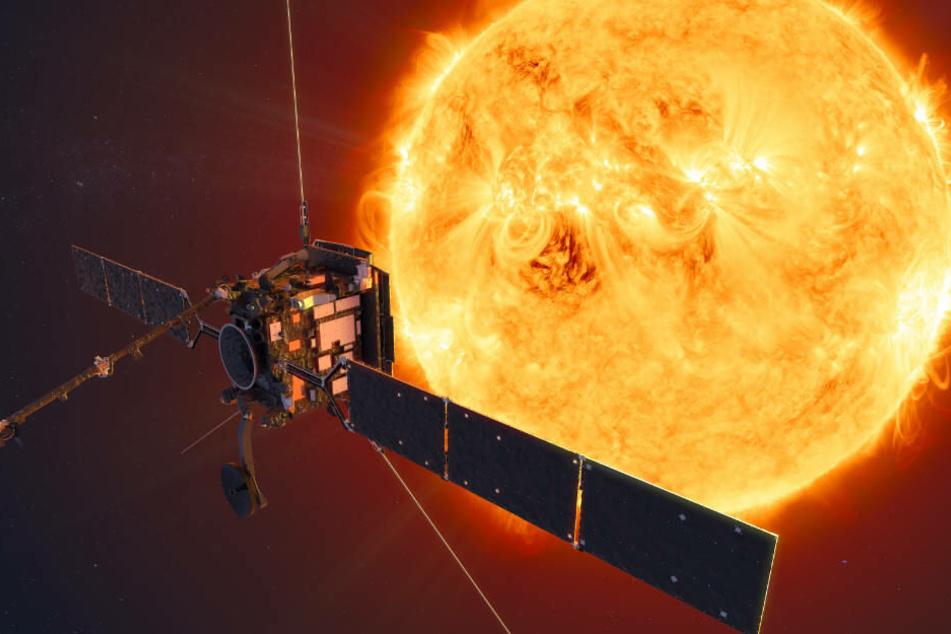 """Die Raumsonde """"Solar Orbiter""""."""