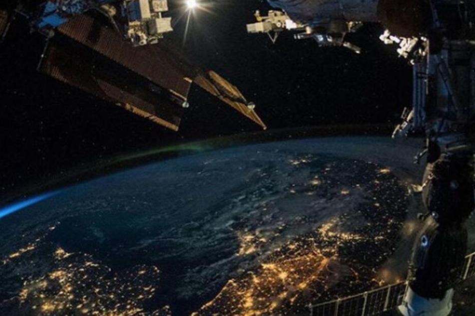 Die Erde vom Weltraum aus gesehen.