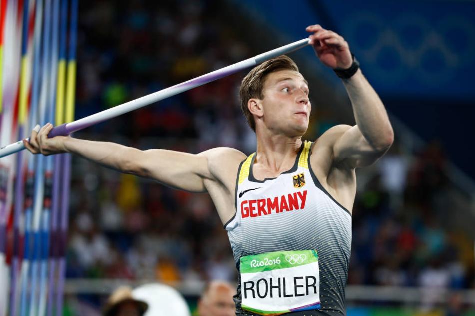 Thomas Röhler kam mit seinem Speer auf 90,30 Meter und gewann damit die Goldmedaille.
