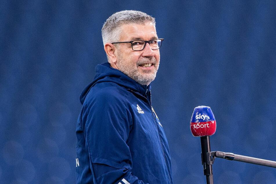 """Union-Coach Urs Fischer (54) sieht im Spiel gegen die TSG 1899 Hoffenheim """"eine interessante und schwierige Aufgabe"""" auf seine Mannschaft zukommen."""