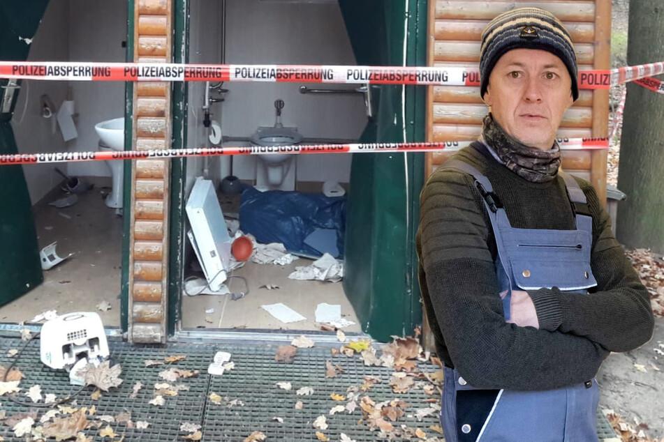 Dresden: Schöner Mist! Klo im Albertpark seit Monaten defekt