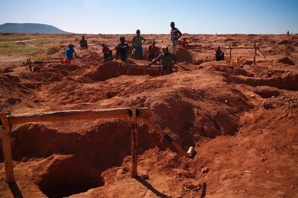 Gold mine in africa.