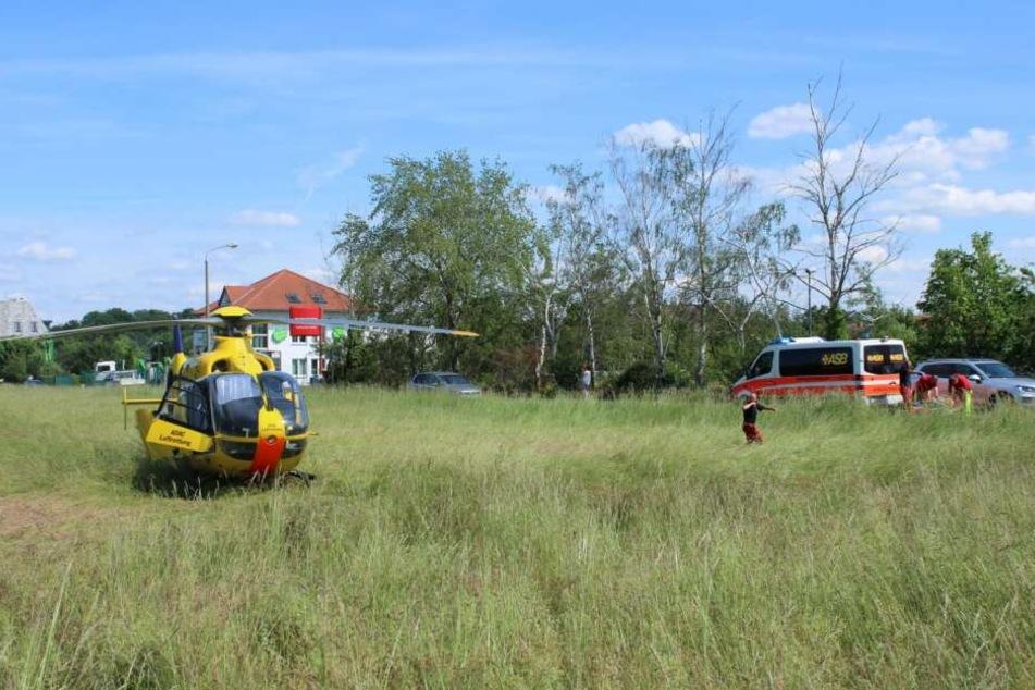Auch ein Rettungshubschrauber wurde angefordert.
