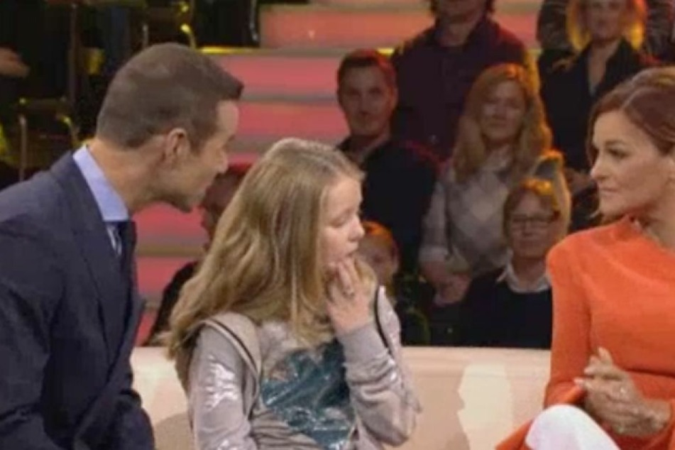 """Bei der Show """"Klein gegen Groß"""" wirkte Andrea Berg (51) wie weggetreten."""