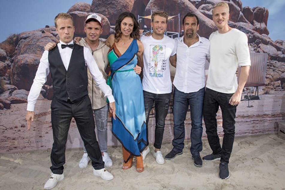 """In der neuen Pro-Sieben-Show """"Global Gladiators"""" geraten Oliver Pocher (39, l.) und Lilly Becker (40, m.) mal wieder aneinander."""