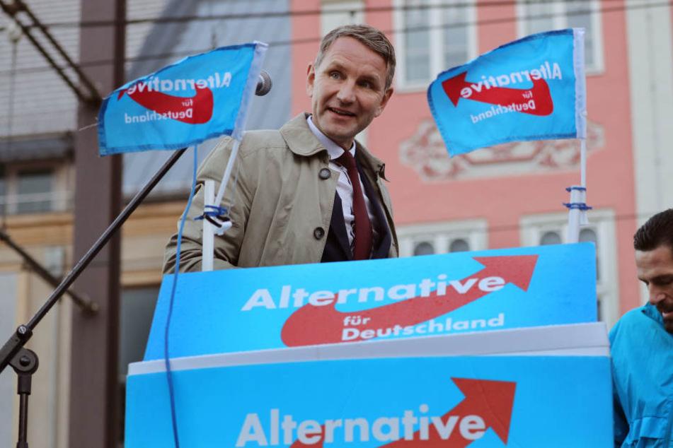 Björn Höcke besuchte die Frankfurter Buchmesse am Freitag.