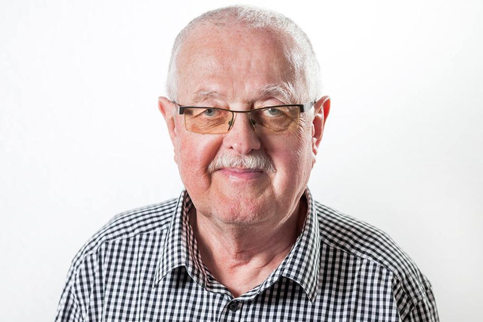 Linken-Stadtrat Hubert Gintschel (67).
