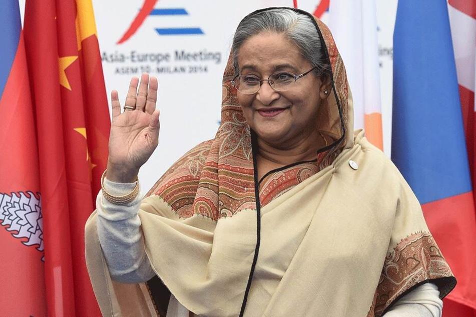 Die Premierministerin von Bangladesch: Hasina Wajed (71).