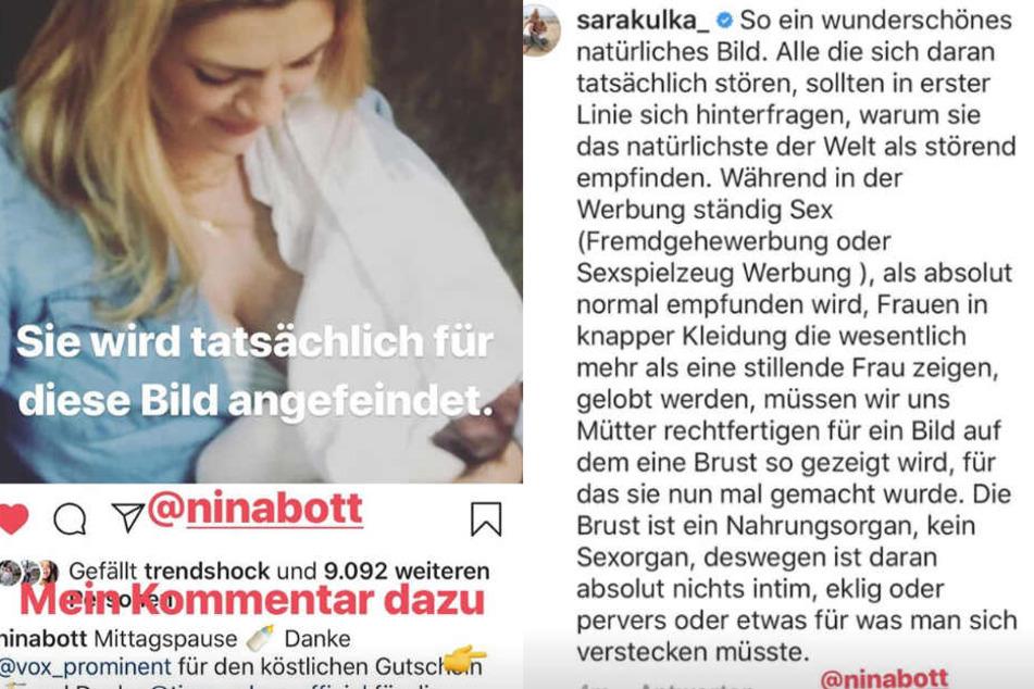 Für dieses Bild erntete Nina Kritik. Sara Kulka macht den Hatern direkt eine Ansage.