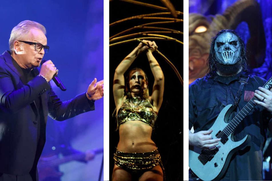 Grönemeyer, der Cirque du Soleil und Slipknot sind nur der der vielen Highlights in der Arena. (Bildmontage)