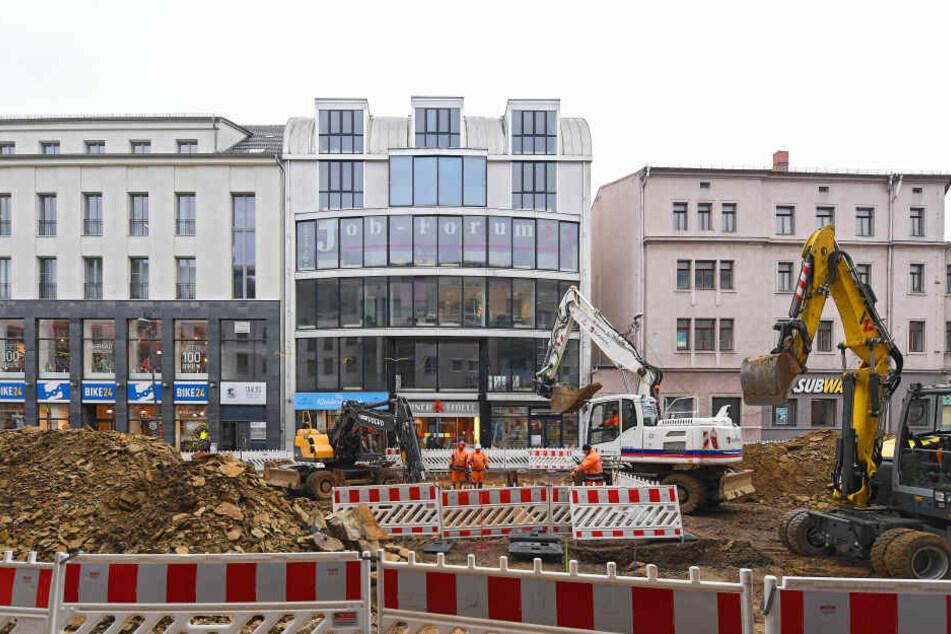 Die Großbaustelle an der Kesselsdorfer Straße sorgt für Umsatzeinbußen bei den ansässigen Händlern.