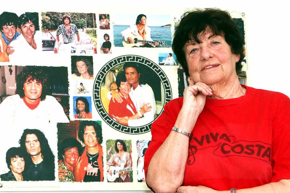 Heidi Stich (78) ist Costa-Fan durch und durch, was man am heimischen Wandschmuck unschwer erkennt.