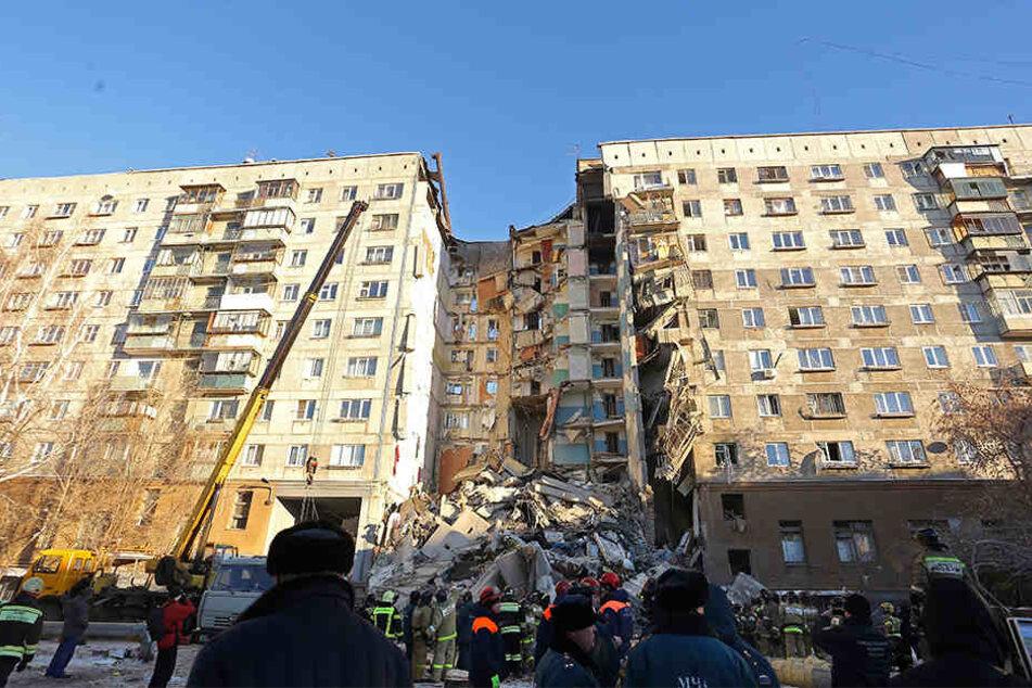 Das Gebäude wurde durch die Gasexplosion massiv beschädigt.