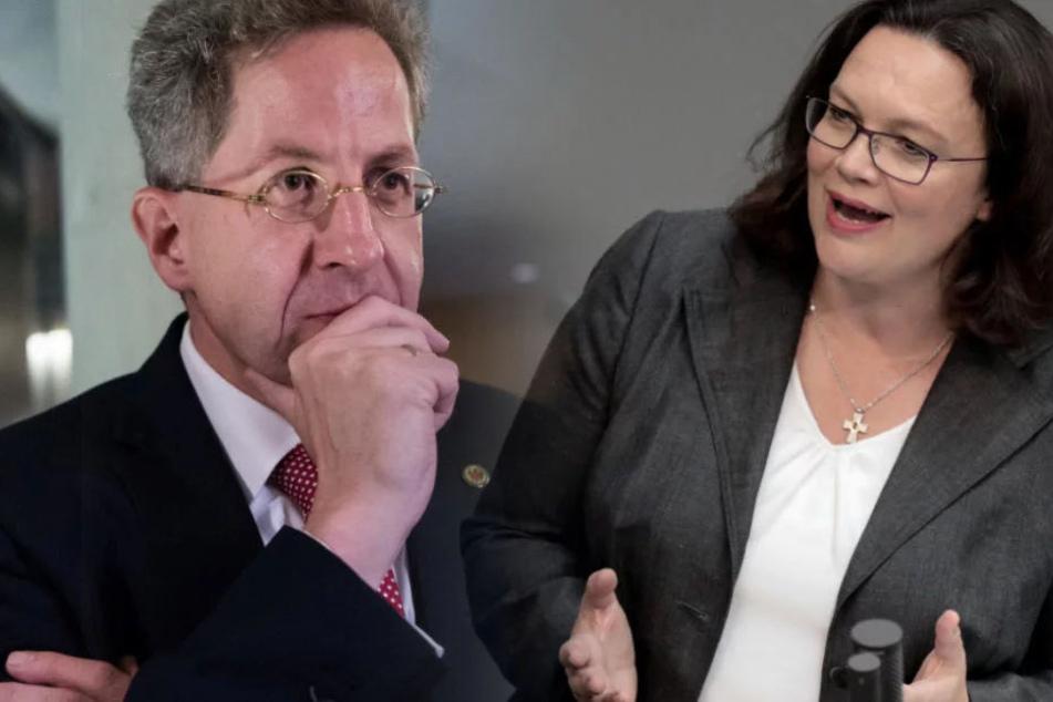 Andrea Nahles (48, SPD) will eine Änderung in der Causa Maaßen.