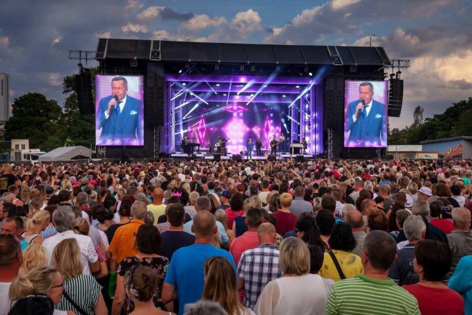 Insgesamt 22.000 Fans waren bei den Konzerten von Roland Kaiser (Foto) am Samstag und Silbermond am Freitag.