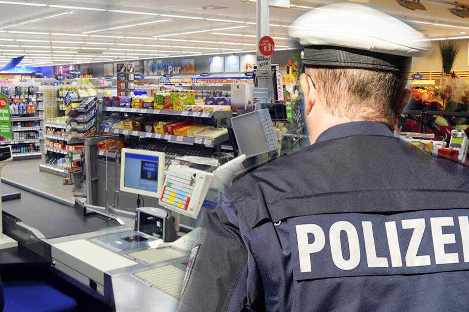 Der Mann war schwer bewaffnet, trotzdem traute sich ein Supermarkt Kunde, den Räuber in die Flucht zu schlagen. (Symbolbild)