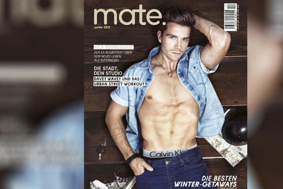 Helenes neuer Freund Thomas Seitel ziert das Schwulen-Magazin Mate.