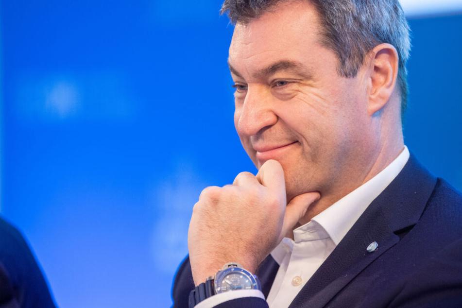 CSU-Chef Markus Söder spricht beim politischen Aschermittwoch in Passau in Bayern.