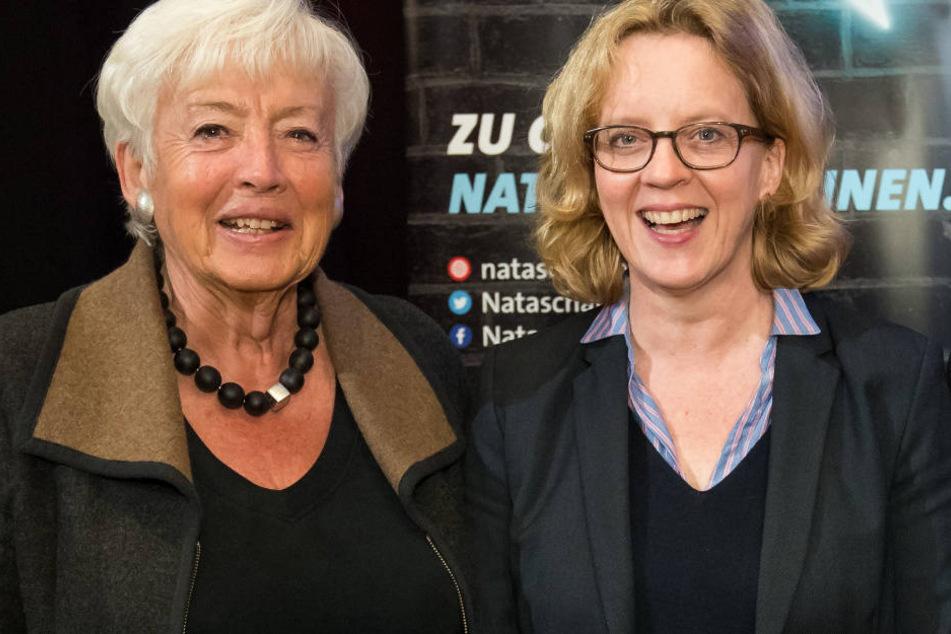 Renate Schmidt (l.) fordert mehr Unterstützung für Natascha Kohnen (r.) in Bayern.