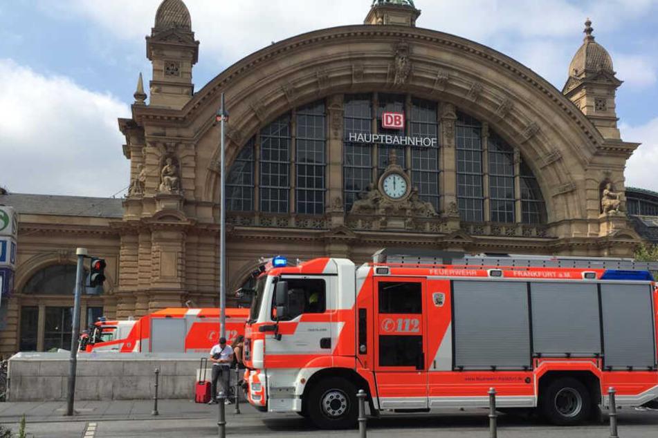 Vier Gleise wurden am Frankfurter Hauptbahnhof wegen des Vorfalls gesperrt.