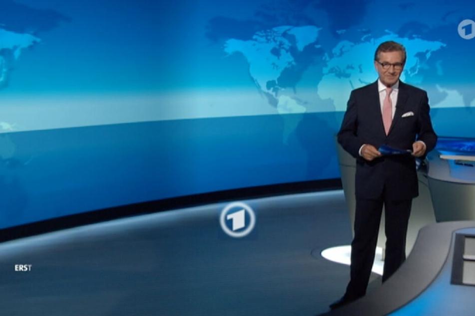 "Der Screenshot der ARD zeigt den ""Tagesschau""-Sprecher Jan Hofer."