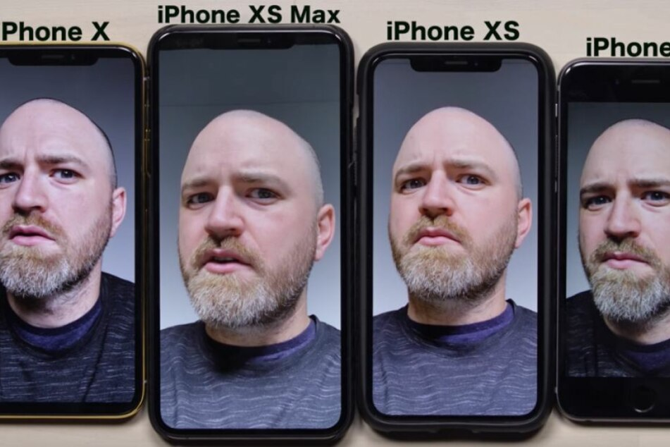 Vier Smartphones, vier verschiedene Bilder.