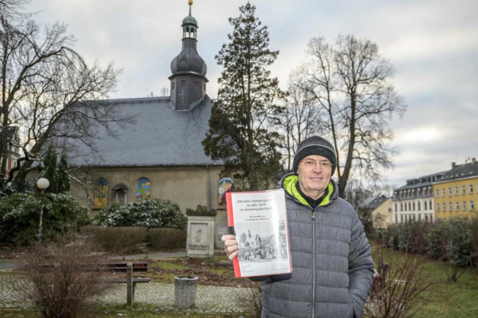 Stadtsprecher Matthias Förster (63) schrieb ein Theaterstück über den Ursprung der Kät, das an der Trinitatiskirche aufgeführt werden soll.