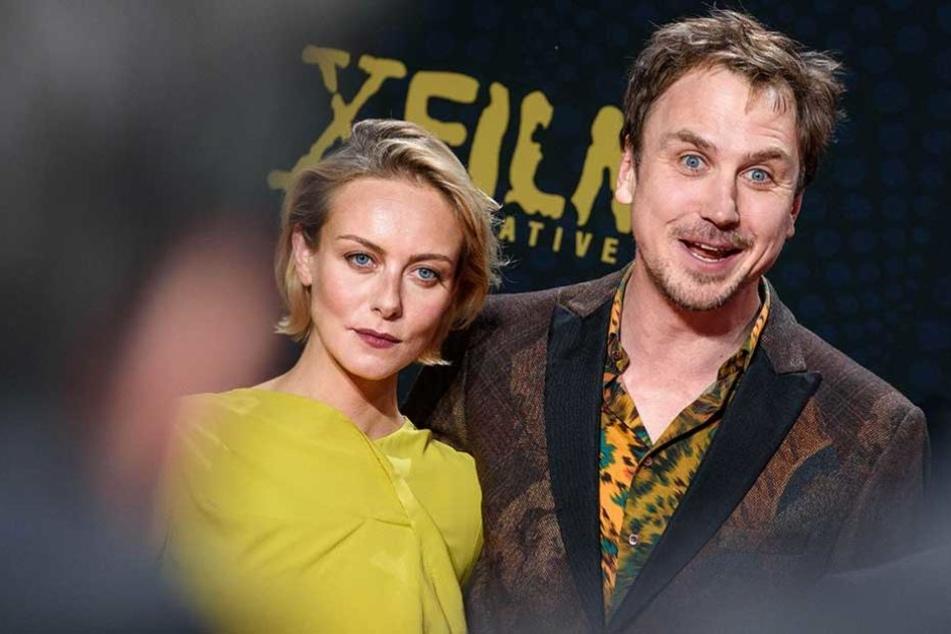 Die Schauspieler Severija Janusauskaite und Lars Eidinger bei der Premiere.