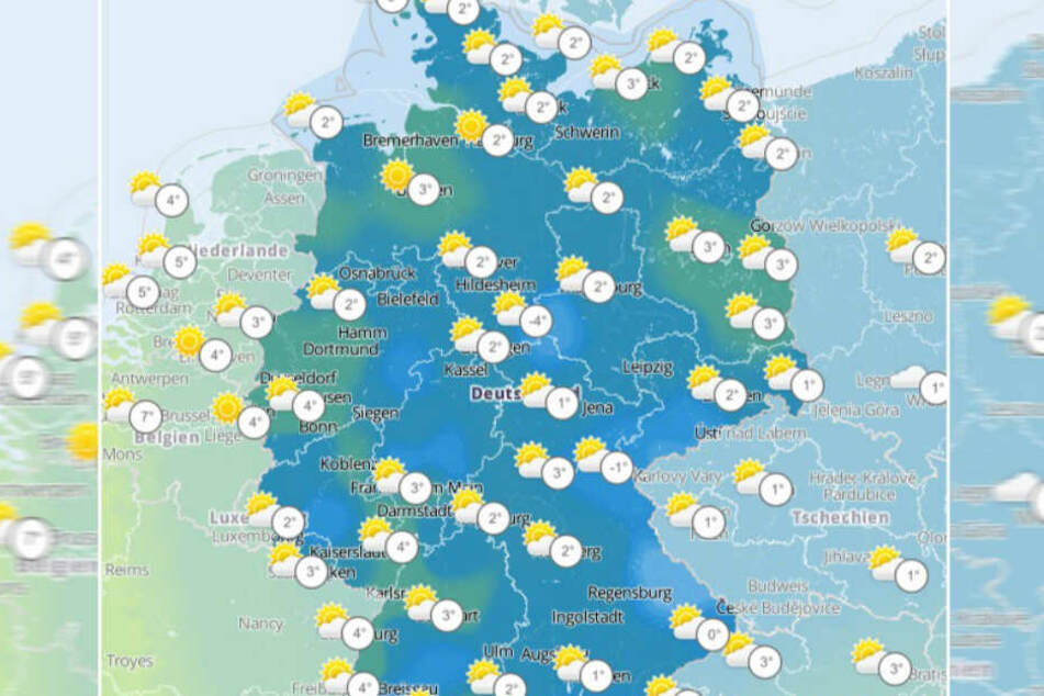 In den nächsten Tagen wird es in Deutschland recht knackig kalt, die Schneefallgrenze sinkt auf 600 Meter.