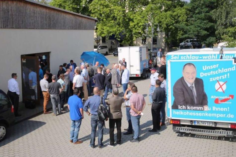 In Dohna versammelte sich die Basis des AfD-Kreisverbandes Sächsische Schweiz/Osterzgebirge.
