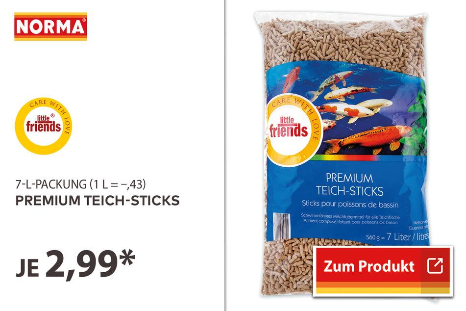 Premium Teich-Sticks für 2,99 Euro