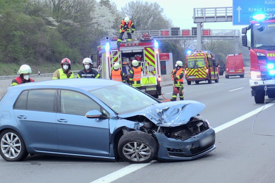 Unfall A3: Unfall auf A3 zwischen Leverkusen und Köln sorgt für langen Stau