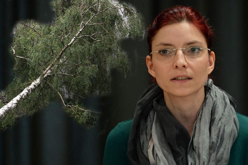 Anfang August wurde Diana Golze während eines Unwetters auf einem Campingplatz von einem Baum getroffen, der umstürzte.