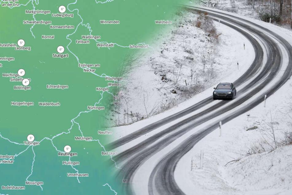 Im Bergland soll es schneien. (Fotomontage/Symbolbild)