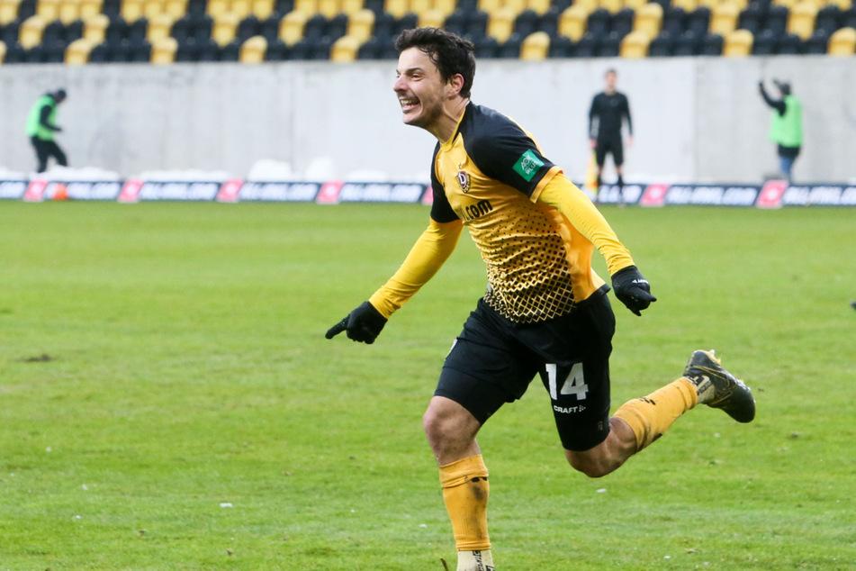 Philipp Hosiner ist einer von wenigen Startelf-Dynamos aus dem Hinspiel, der auch am Samstag in Zwickau von Beginn an starten könnte.