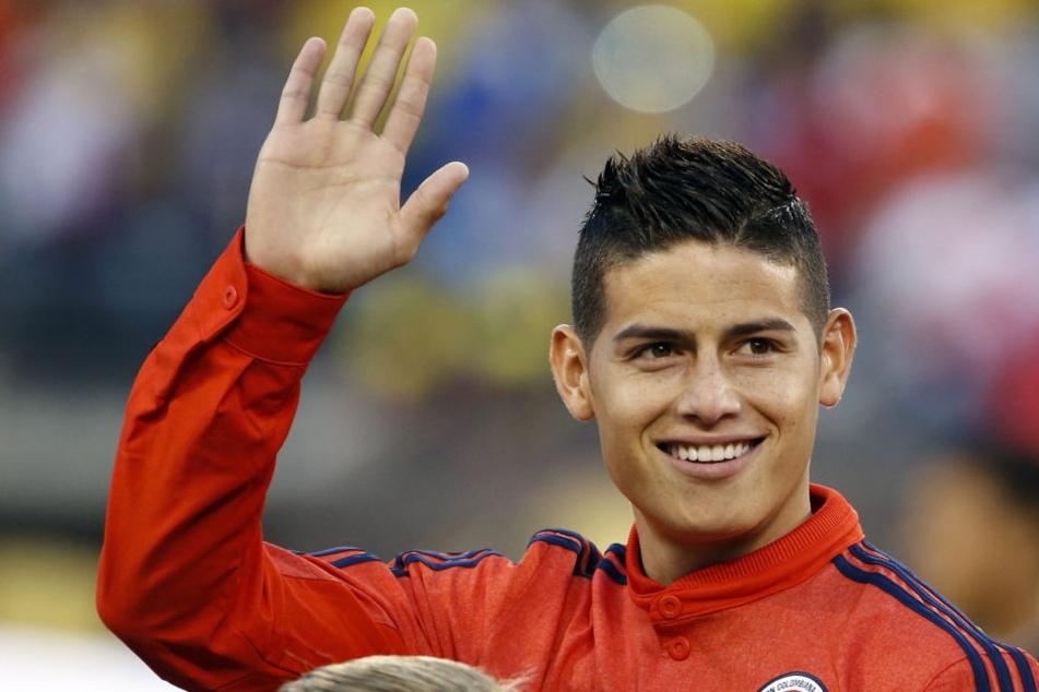 """Rodriguez bald im Trikot der Bayern"""" In einer Pressemeldung bestätigten sie die Verpflichtung."""