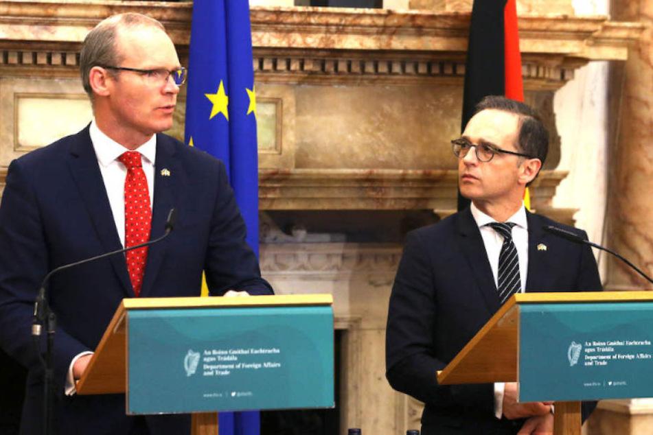 Außenminister Heiko Maas (51, SPD) mit seinem irischen Amtskollegen Simon Coveney (45) in Dublin.