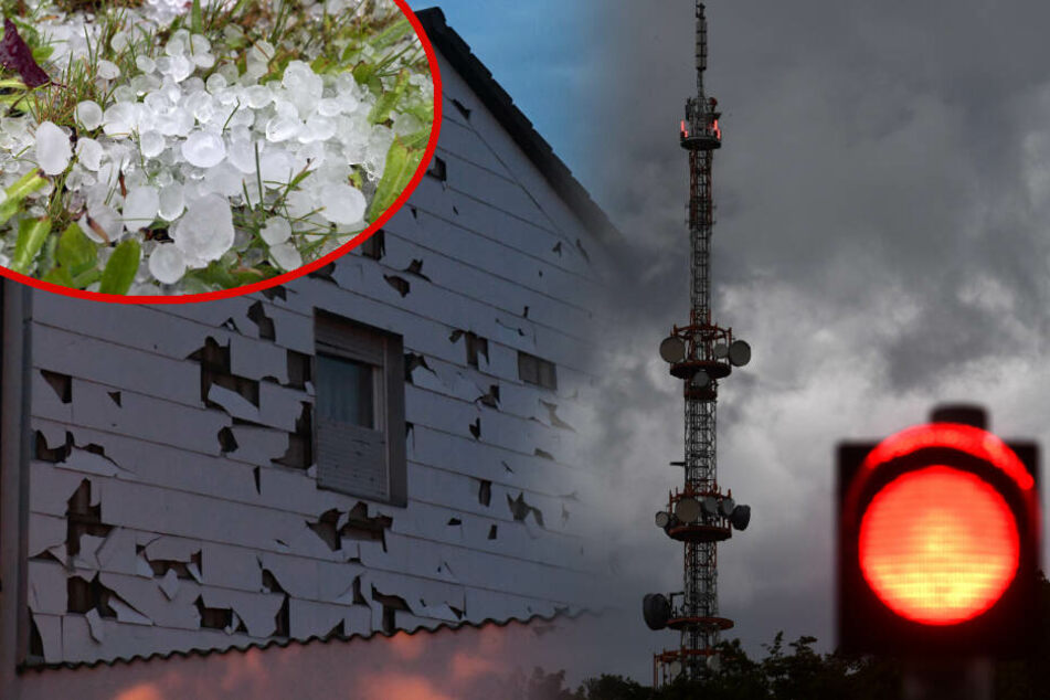 Riesige Hagelkörner und umstürzende Bäume: Unwetter verwüstet Bayern