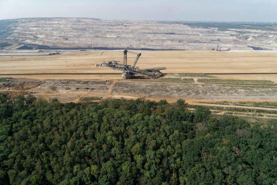 Der Tagebau Hambach aus der Luft.