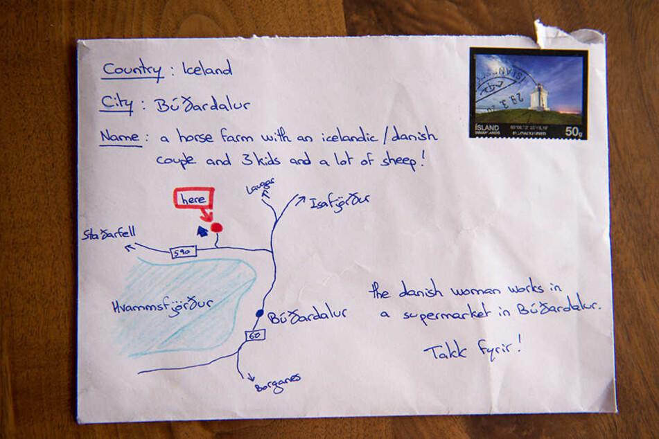 Eine Küste, zwei Hauptstraßen, fünf Nachbarorte und eine detaillierte Beschreibung reichen in Island zum Postversand aus.