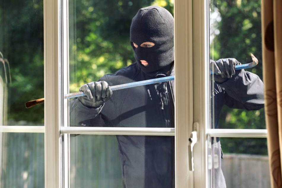Die Einbrecher kamen über den Garten und schlugen ein Fenster ein (Symbolbild).