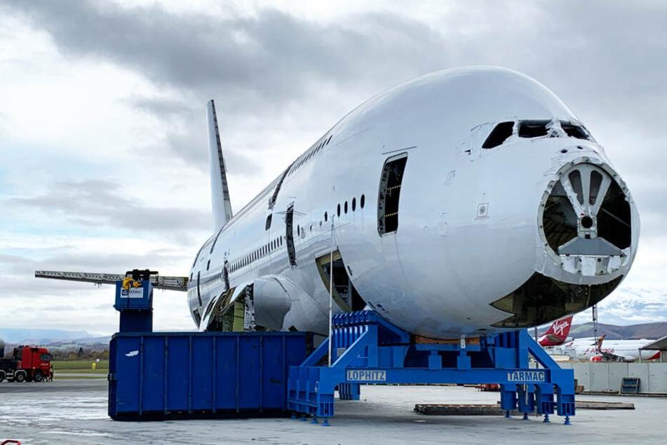 So sah der A380 bei seiner Zerlegung aus.