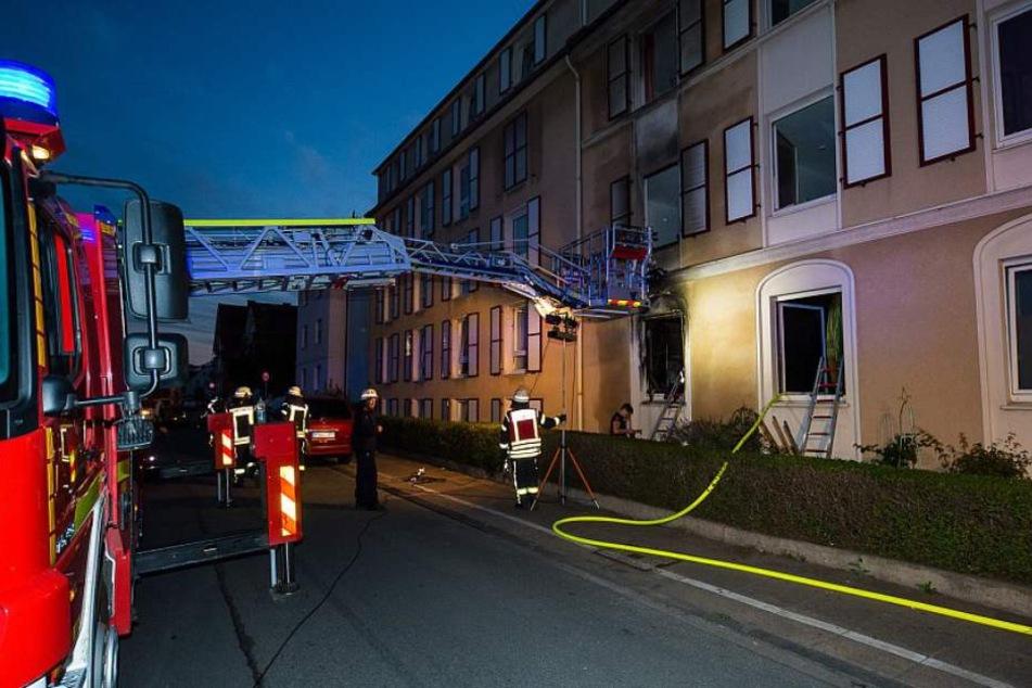 Die Feuerwehr löschte damals den Brand.