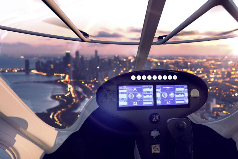 Eine Taxifahrt mit Ausblick: Hersteller Volocopter ist zuversichtlich.