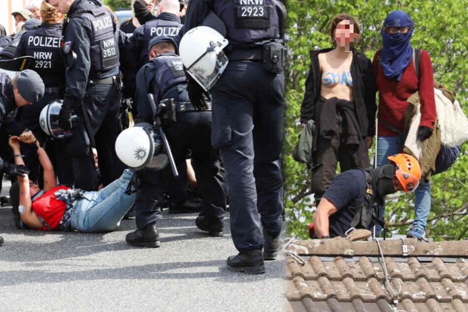 Polizei räumt besetztes Tagebau-Haus in Morschenich