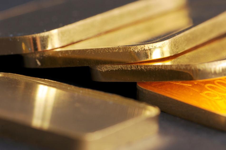 Die Goldbarren haben einen geschätzten Wert von 83.500 Euro. (Symbolbild).