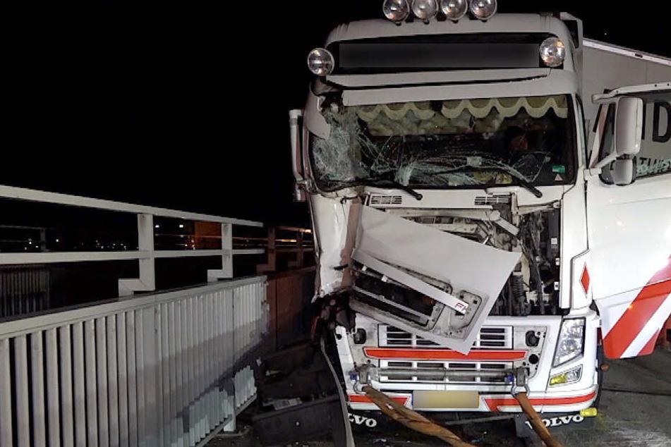 Der Lastwagen des Unfallverursachers.