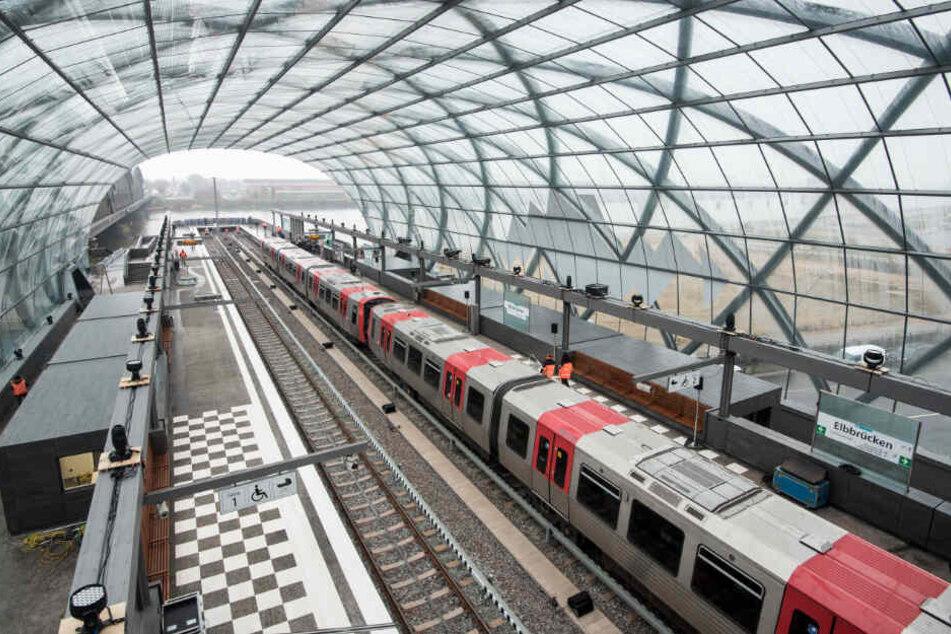 Die Station Elbbrücken markiert derzeit das südliche Ende der Linie U4 in Hamburg.